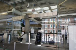 Hamilton Library Sliding door - Automatic Doors Burlington, London, Ottawa | Horton Automatics of Ontario