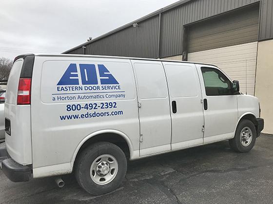 Eastern Door Service Van and Office
